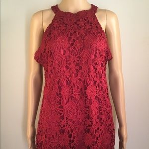 Leo Rosi Red Lace Dress